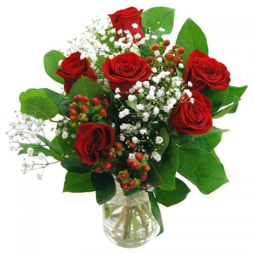 Heartfelt 6 Red Roses Bouquet