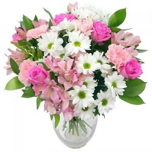 Precious Pink & White Bouquet